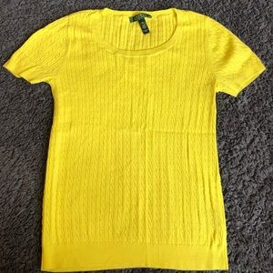 Ralph Lauren Short Sleeve Cable Knit Sweater M